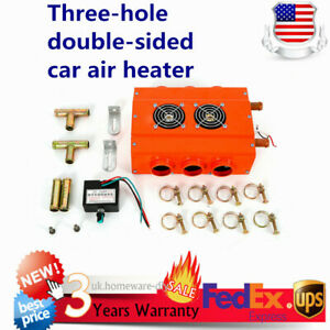 Universal Car Truck Three hole Double sided Car Air Heater Heating Machine 12v