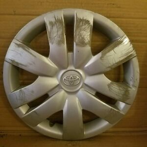 Toyota Yaris 2006 2012 14 Wheel Cover Hub Cap 42602 52260 Crack In Edge 885ds