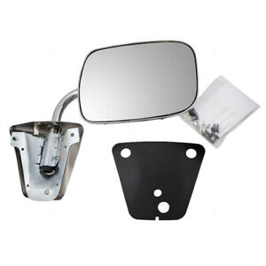New Manual Side View Mirror Stainless Steel 73 91 Chevy Gmc Pickup Truck Suv Van