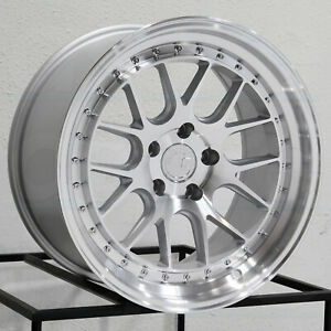 18x9 5 18x10 5 Aodhan Ds06 Ds6 5x112 15 15 Silver Machined Wheels Rims Set 4