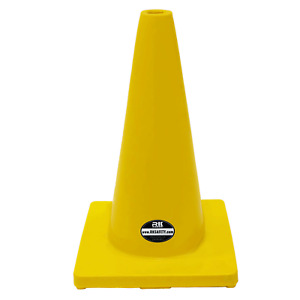 18 Rk Yellow Safety Traffic Pvc Cones Yellow Base