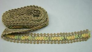 9ft Ornate Metallic Braid Ribbon Work Vintage Trim Approx 114