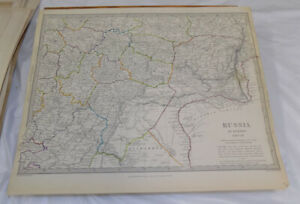 1835 Antique Color Sduk Map Russia In Europe Part 7
