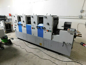 Ryobi 3304h 4 color Offset Printing Press serial Number 1227