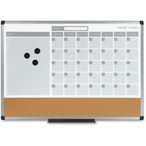 Mastervision 3 in 1 Combo Monthly Calendar Board Mb3507186