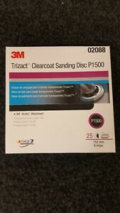 3m 02088 1500 Grit Trizact Hookit Clear Coat Sanding Disc 6 In5 Sheets Total