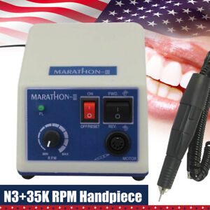Dental Lab Micromotor 35000 Rpm Marathon Polishing Polisher 35k Handpiece Us New