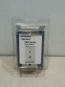 New Sealed Securitron Pb4ln 2 Push Button Grn Halo Dpdt Ss Narrow Stile