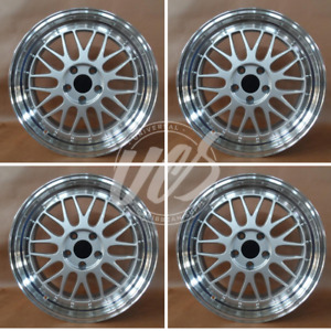 set Of 4 19 x9 5 Silver Lm Style Rims Fits 5x114 3 Bolt Pattern Offset35