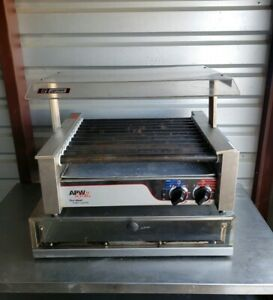 Apw Wyott Commercial Hot Dog Roller Grill Sneeze Guard Bun Holding Cabinet