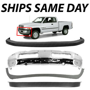 New Front Bumper Combo Kit Bundle 4 For 1994 2001 Dodge Ram Truck 1500 25