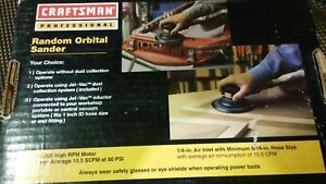 Craftsman Professional Random Orbit Air Sander