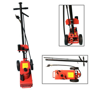 22 Ton Air Hydraulic Car Wheel Jack Repair Stand Tool Red