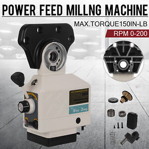 As 250 X axis Torque 150 In lb Power Feed Milling Machine 200prm For Bridgeport