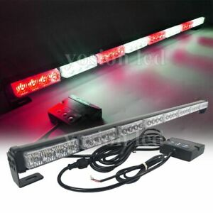 34 Led Emergency Flash Strobe Light Bar Vehicles Traffic Advisor Red white 32w