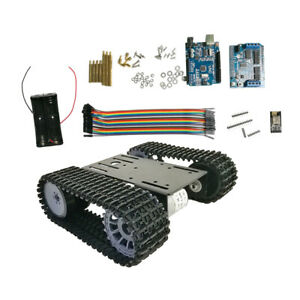 Arduino Wifi Robot Tank Crawler Chassis For Smart Car Education Competition