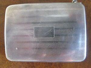 Vintage Sterling Silver Small Card Case 2 1 2 Long 31 Grams