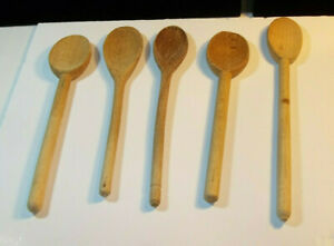 Wooden Spoons Hand Carved Vintage Kitchen Primitive Kitchen Country Decor Lot