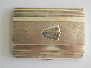 Elgin Sterling Silver Cigarette Case With Mono