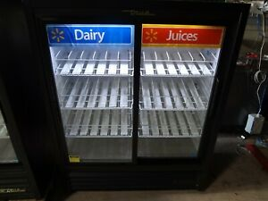 04 2013 True Gdm 41sl 60 ld 2 Glass Door Refrigerator merchandiser Dairy Juice