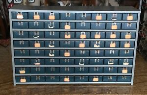 Vintage Industrial Salvage 64 Drawer Seamstress Supply Chest Apothecary Modern