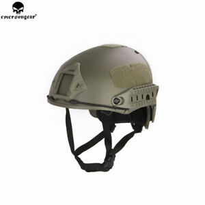 Emerson Fast Helmet AF Style Tactical Helmet w shroud Protective Airsoft CS Gear