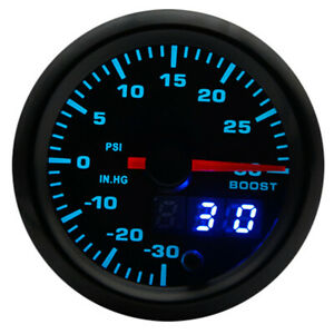 2 52mm Universal 7 Colors Led Car Auto Turbo Boost Gauge Psi Meter With Sensor