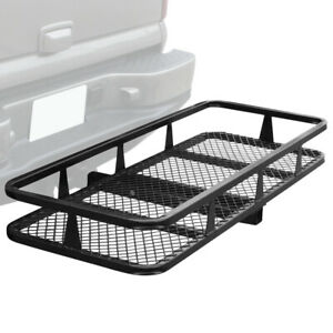 Us Black 59 X 25 Folding Cargo Carrier Hitch Mount Luggage Asket Rack Truck Suv