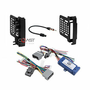 Car Radio Stereo Double Din Dash Kit Amp Harness For 07 Up Chrysler Dodge Jeep