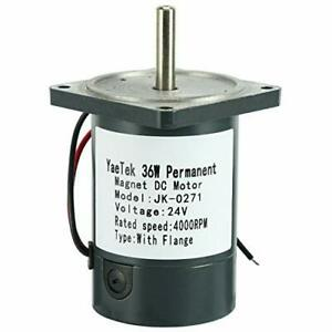 24v Dc Motor With Flange 36w 4000rpm High Speed Large Torque Motor us Stock