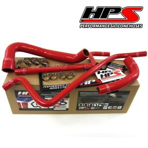 Hps Performance Silicone Radiator Heater Hose Kit Wrangler Tj 4 0l Lhd Red