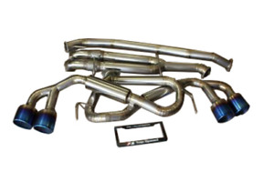 Top Speed Pro 1 Titanium Straight Y Pipe Back Exhaust For 2009 2018 Nissan Gtr