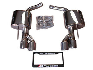 Top Speed Pro 1 Axle Back Exhaust For 2007 2012 Mercedes Benz Sl550 Base Amg