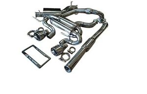 Top Speed Pro 1 Performance Turbo Back Exhaust For 2012 2013 Vw Golf R 2 0t Mk6