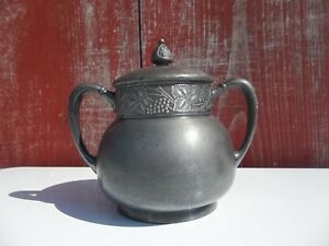 Vintage Pairpoint Pewter Container With Acorn Topped Top New Bedford Mass