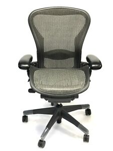 Aeron Fully loaded Lumbar Support Size B Nickel Mesh 3d03 By Herman Miller