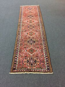 On Sale Beautiful Hand Knotted Gharajeh Geometric Rug Runner Carpet 3x10 1639