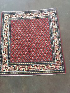 Hand Knotted Persian Sarouk Antique 60yrs Old Rug Geometric Carpet 2x3 2 2 X2 4