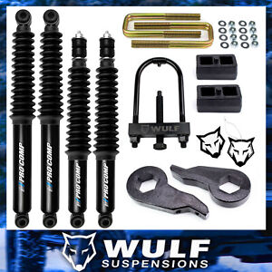 3 2 Lift Kit 2001 2010 Chevy Silverado Gmc Sierra 2500 3500 Hd Shocks Tool