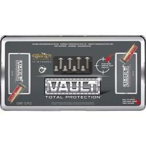 Cruiser Accessories License Plate Frame Cover Vault Black Clear 62730