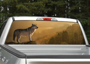 Wolf In Sunset Rear Window Decal Graphic For Truck Suv