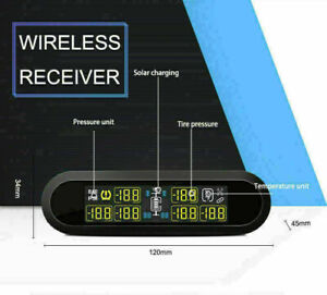 Wireless Car Tire Tyre Pressure Monitoring System Tpms 6 Sensor For Rv Trailer