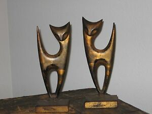 Unique Cast Iron Kitty Deco Bookends