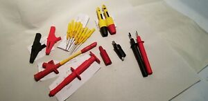 Fluke Pomona Automotive Probes Clips Pins Lot Of 19 Assorted Pieces