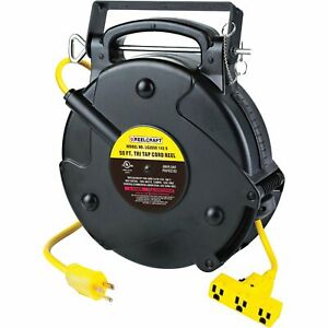Reelcraft Retractable Cord Reel W 3 Outlets 40ft 12 3 Triple Tap Lg3040 123 9