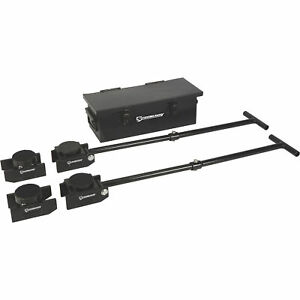 Strongway Machinery Mover Kit 8800lb Total Cap Four 2200lb Cap Movers 2 Handles