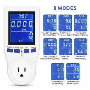 2019 Upgrade Electricity Usage Monitor Power Meter Plug Extension Cord Hd Lcd
