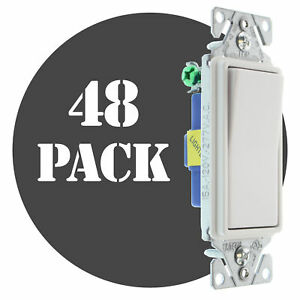 Hubbell Rsd115ilwz Lighted Decorator Switch 1 p 15a 120 277v White 48 pk