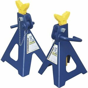 Stronghold Double Locking 12 Ton Jack Stands Pair Model Th512005a
