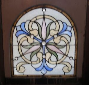 One Of A Matched Pair Antique Philadelphia Stained Glass Window
